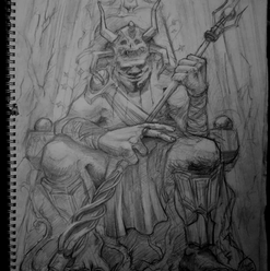 Forest God (Pencil sketch)