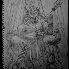 Forest God (Pencil sketch)