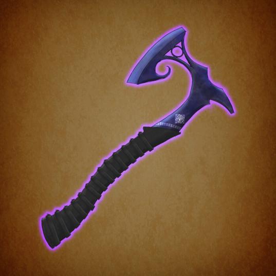 Arrow illustration axe