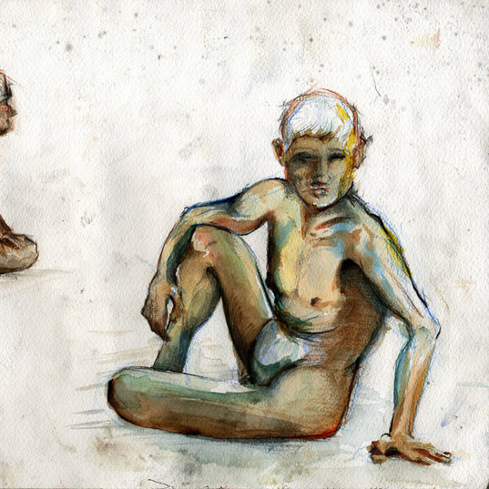 Watercolour Life drawing