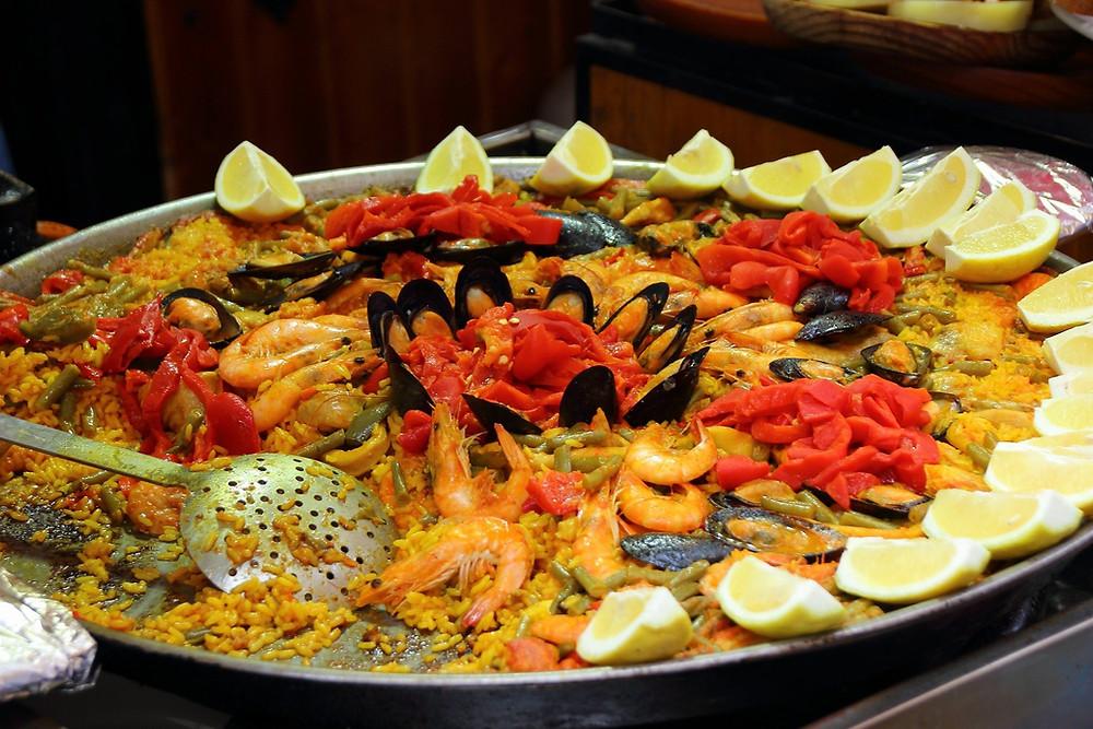Travel foodie; spanish paella; Valencia, Spain