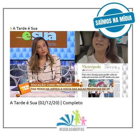Rede TV - A Tarde é Sua - a partir de 0:45