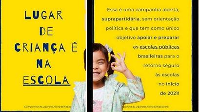 campanha lugar de criança é na escola.jp