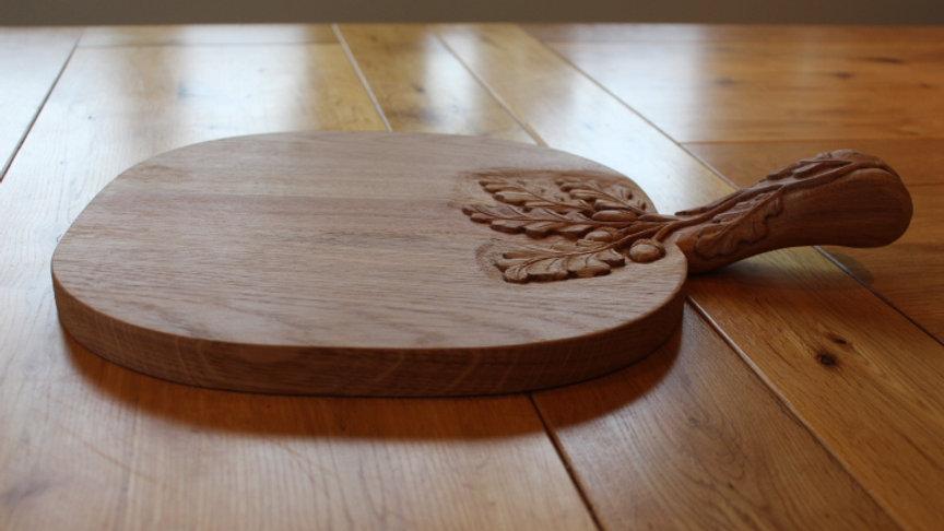 Medium Oak single handled serving platter