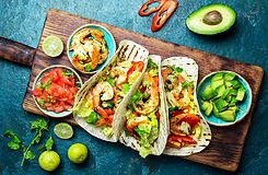 shrimps-tacos-with-salsa-vegetables-and-