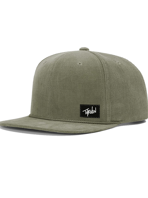 Thriven Snapback - Olive Corduroy Rope Hat