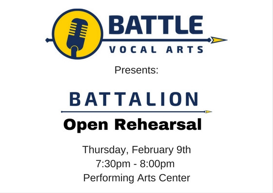 Open Rehearsal Thursday, February 9th