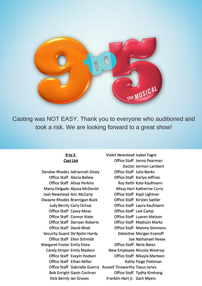 9 to 5 CAST LIST