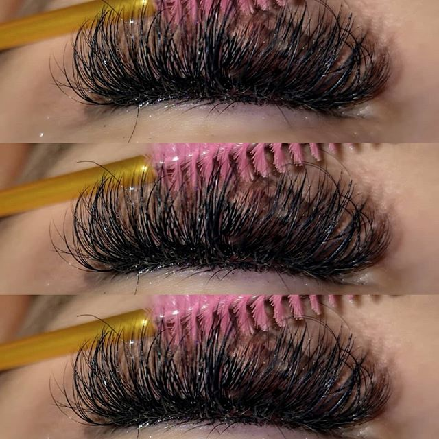 fluffy mixed length hybrid lashes