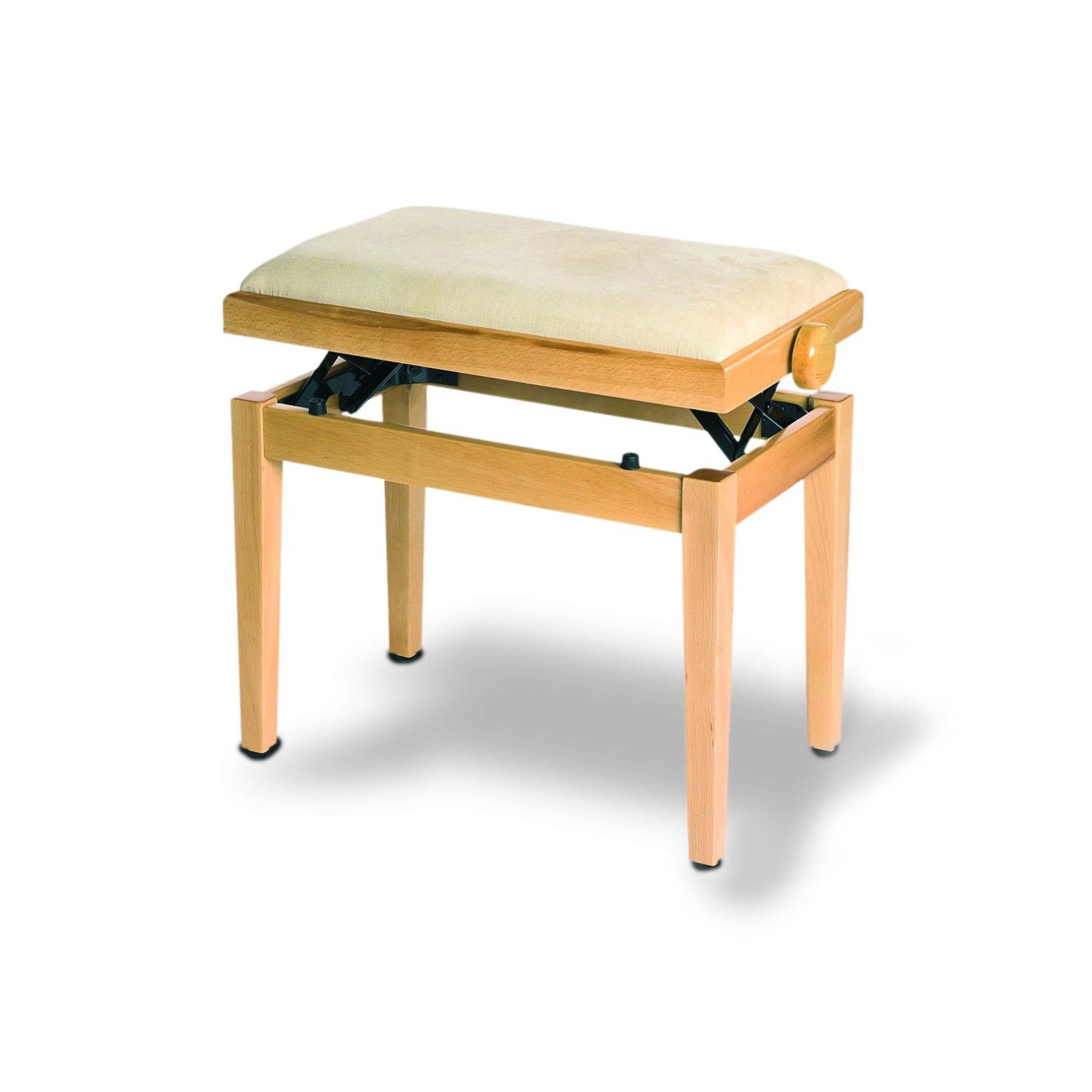 כסא לפסנתר בצבע עץ בהיר