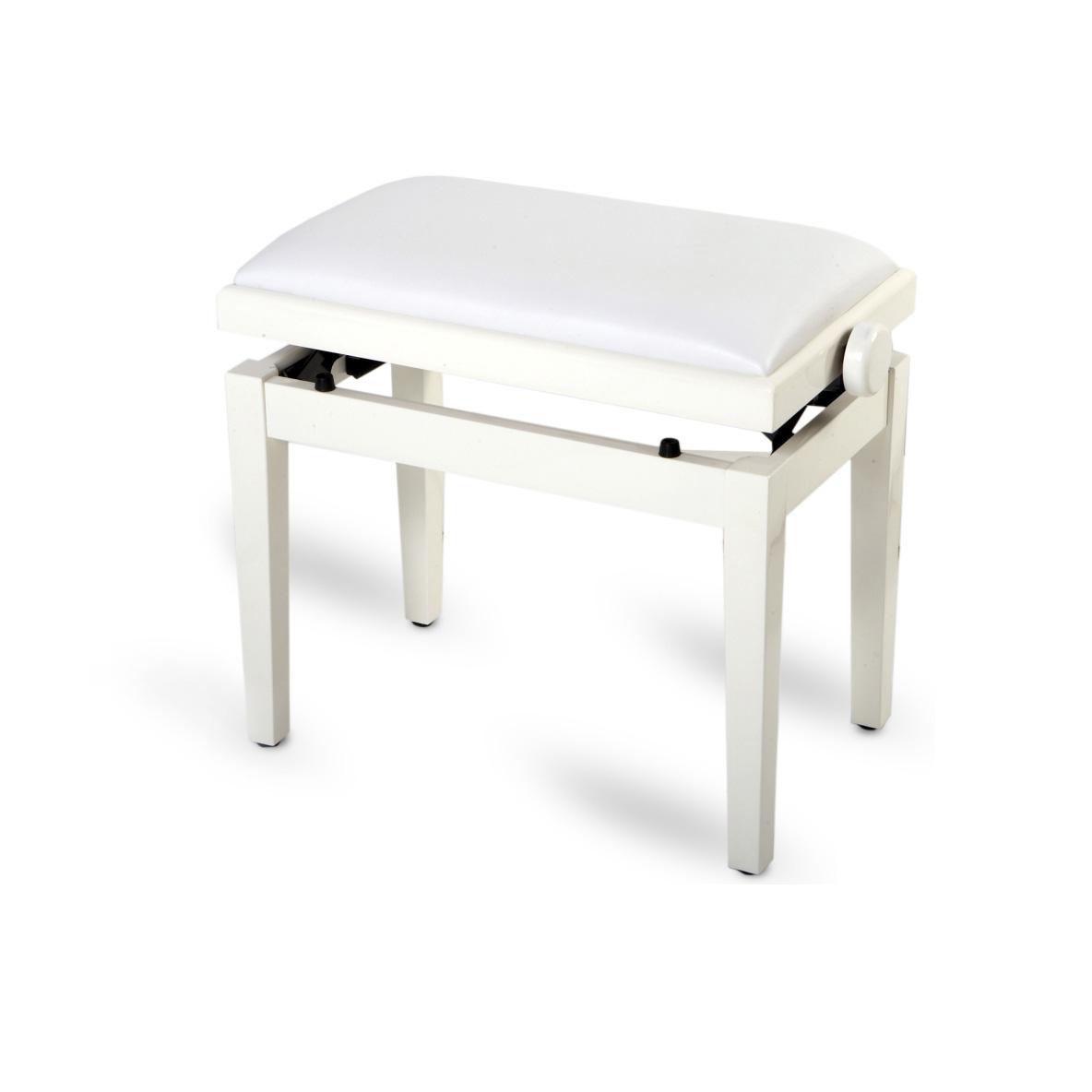 כסא לפסנתר בצבע לבן