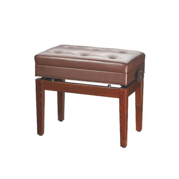 כסא לפסנתר בצבע חום עם תא לאיחסון