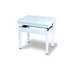 כסא יוקרתי לפסנתר בצבע לבן עשוי עור