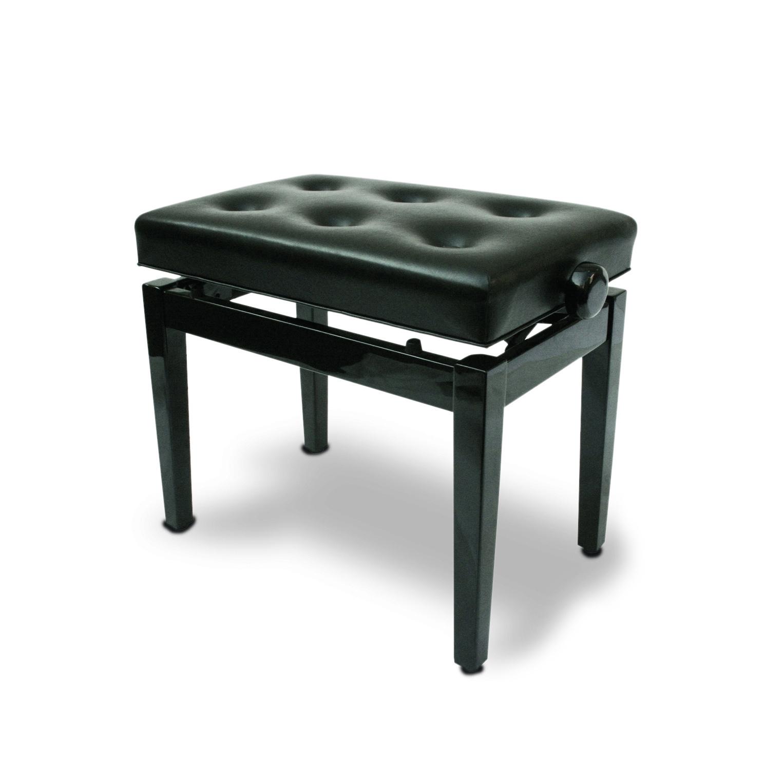 כסא לפסנתר בצבע שחור