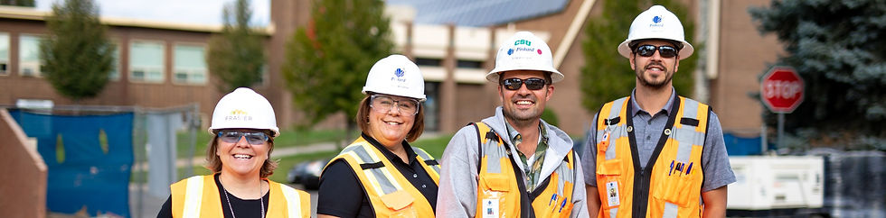 Pinkard employees in hard hats smiling