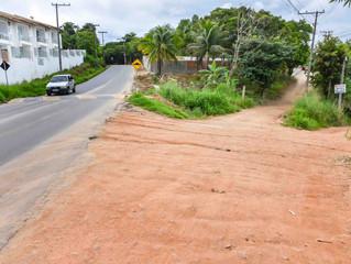 Ladeira de acesso ao bairro São José seráasfaltada em Arraial D'Ajuda