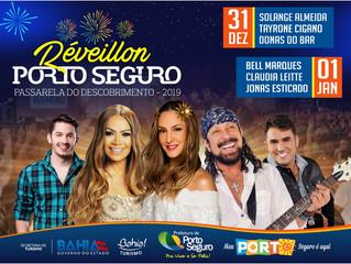 Porto Seguro receberá 2019 com grandes atrações musicais
