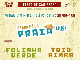 Arraiá Solidário do Casarão e do Uiki, promovido pelo Circuito Arraial d'Ajuda, será dia 30 de j