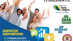 Arraial d'Ajuda será contemplada com serviços ofertados pela Sala do Empreendedor Itinerante