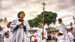 Multidão comemora 470 anos da romaria de Nossa Senhora d´Ajuda