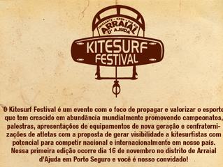Kitesurf Festival acontece dia 16 de novembro em Arraial d'Ajuda, Porto Seguro