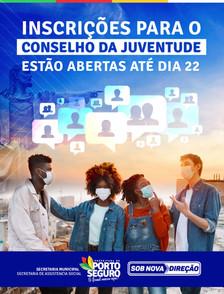 Inscrições para o Conselho da Juventude estão abertas até dia 22