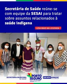 Secretária de saúde reúne-se com equipe da SESAI