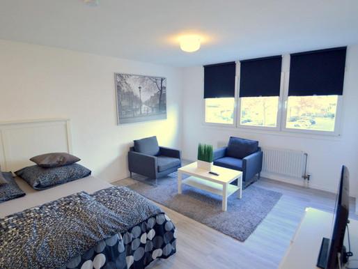 Zentrales 1-Zimmer Appartement: saniert und voll möbliert in Heilbronn zu verkaufen!