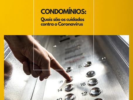 CONDOMÍNIOS: Quais os cuidados contra o Coronavírus