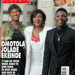 Captain E & his family cover new issue of Hello! Nigeria