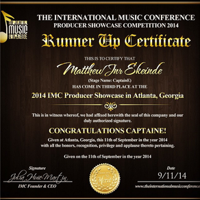 Captain E emerges 3rd at the International Music Conference