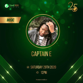 Captain E nominated for 25Under25 Music Category Award
