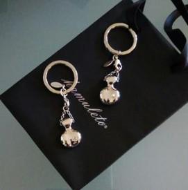 hamuleto portachiavi perla e Swarovski