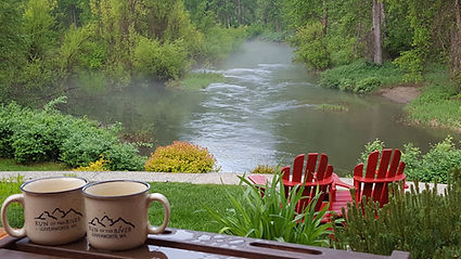 Coffee overlooking the Refuge