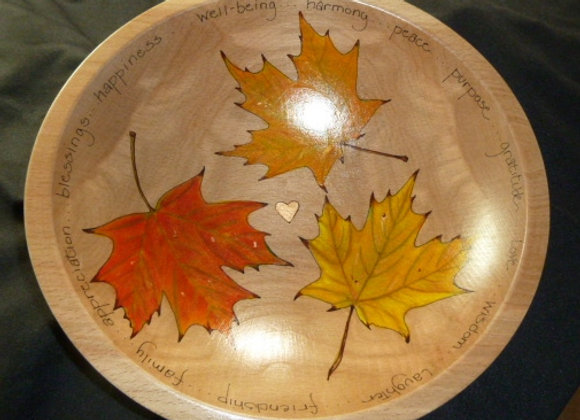 "12"" Leaf Bowl with Your Personalization"