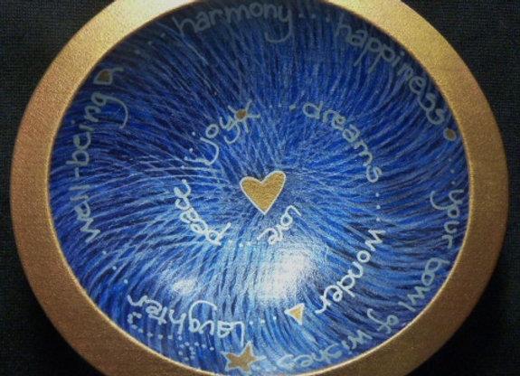 """6"""" Blue Spiral"""