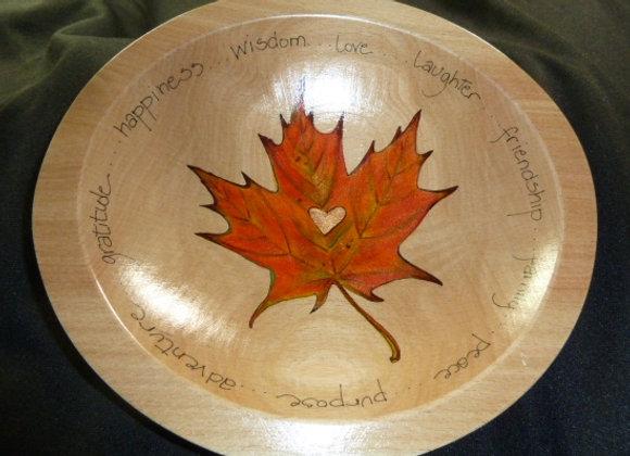 "9"" Leaf Bowl 2 personalized"