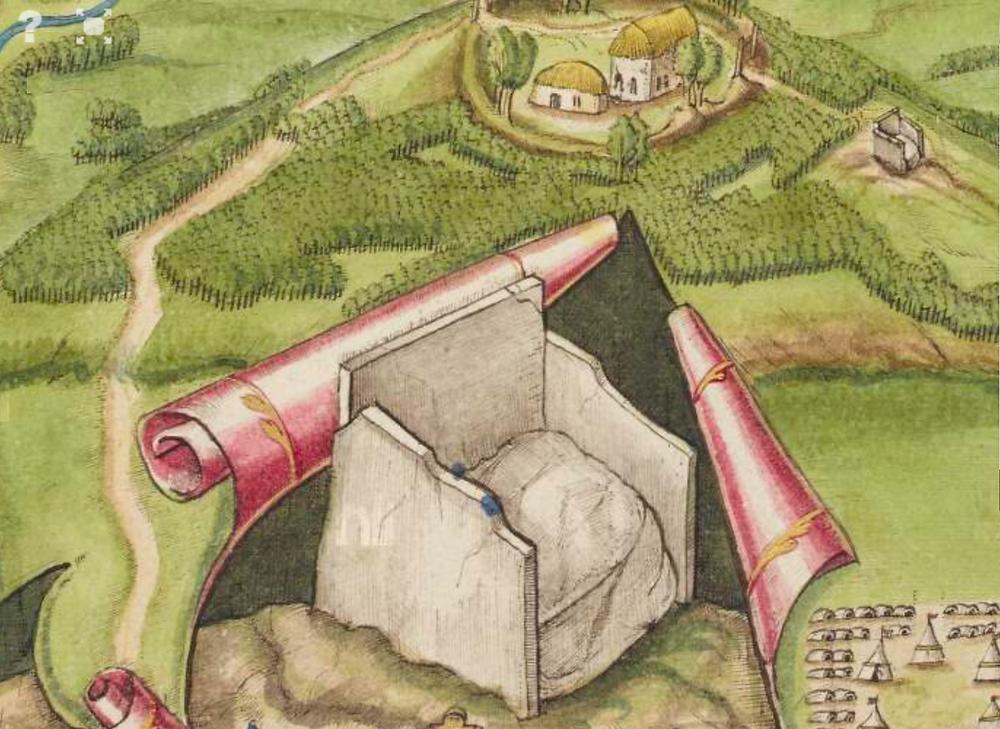 Richard Barthelet (Bartlett) map of Tullyhogue, 1602. (National Library of Ireland)