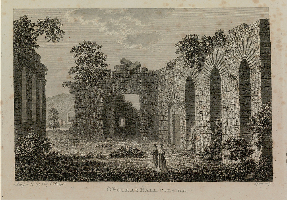 O'Rourke's Masonry hall at Dromahair ('Dromathyely'), similar to the one at Augnanure.