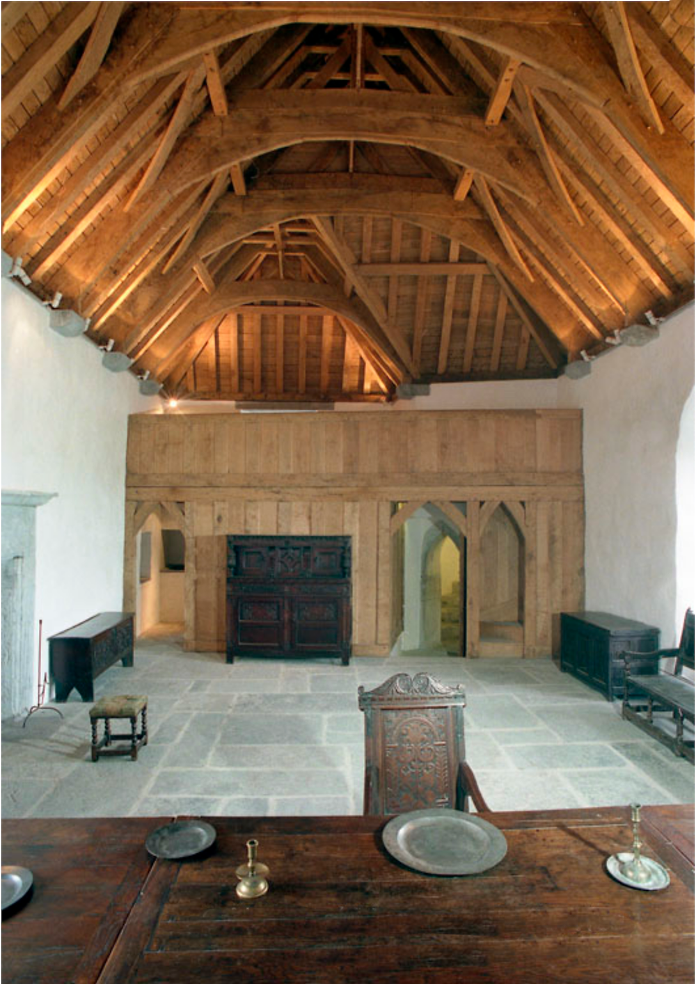 The hall at Ross castle.