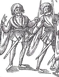 Derricke's kern with skeans, 1581.