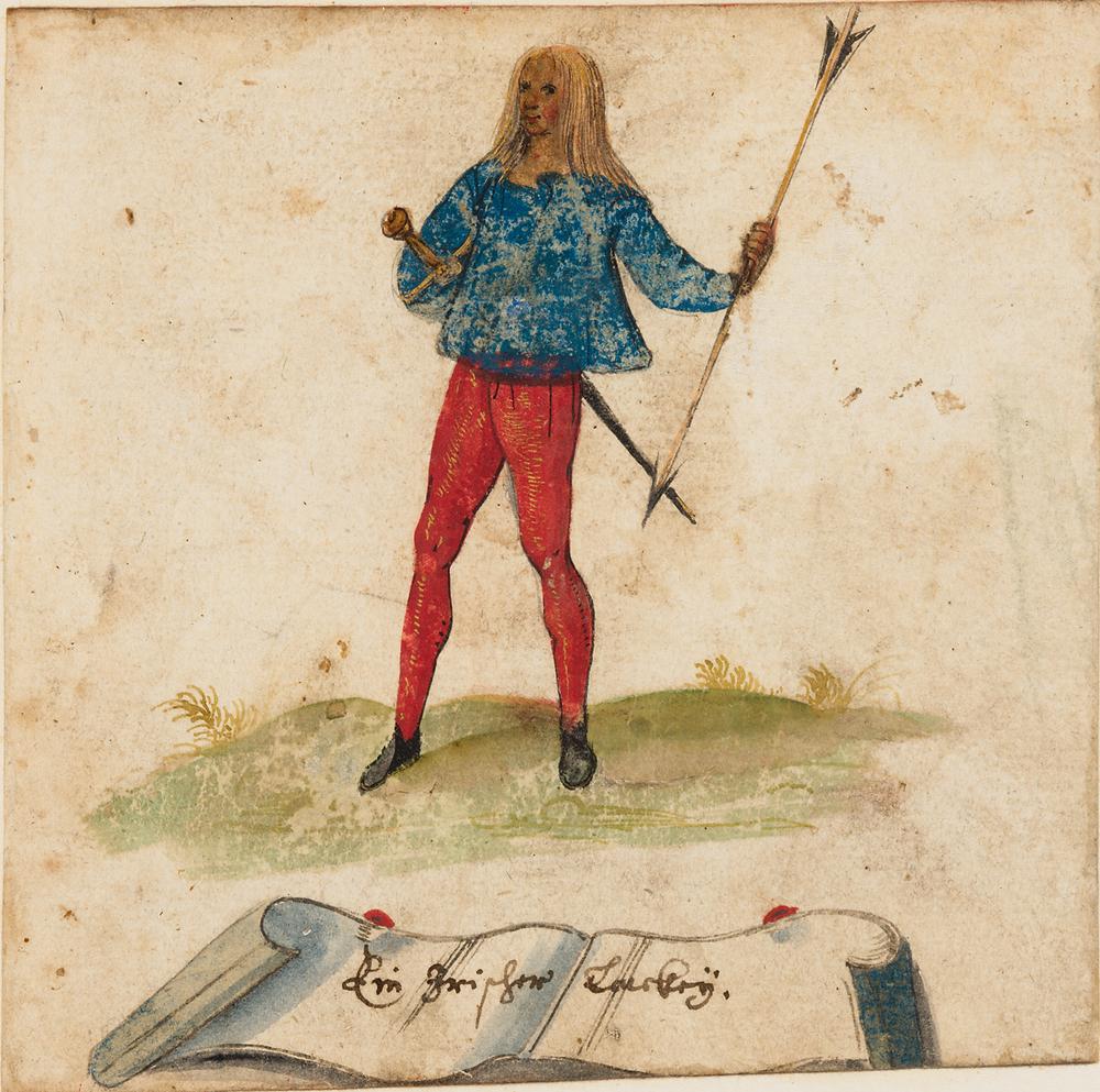 Irish lackey, Album of Hieronymus Tielch, 1603. © Huntington Library, by permission.