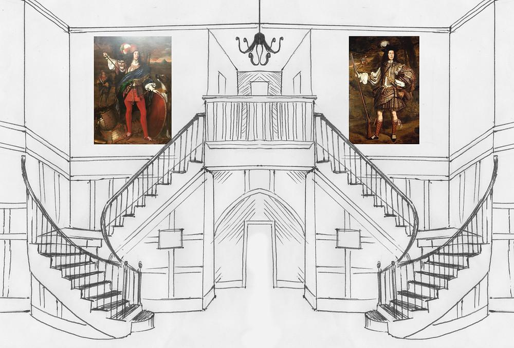 Imaginative reconstruction of Ormond House, St. James's Square.