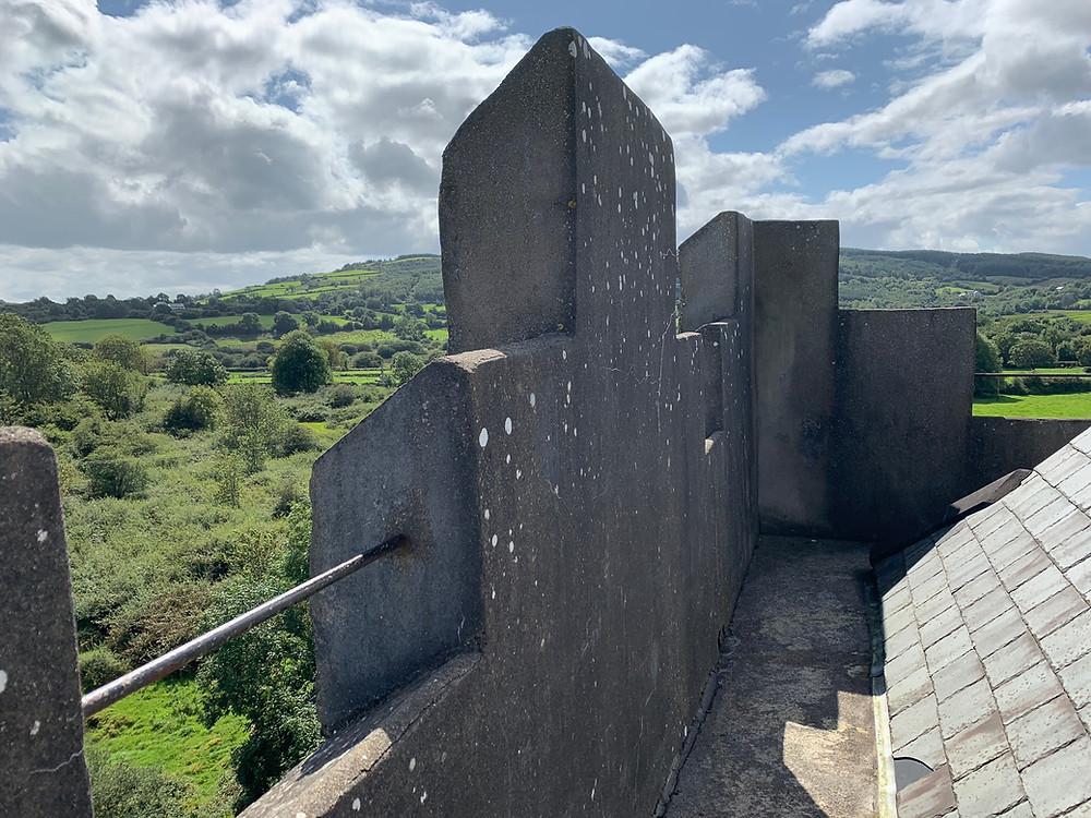 Wall walk view, Dysert O'Dea castle, Co. Clare.