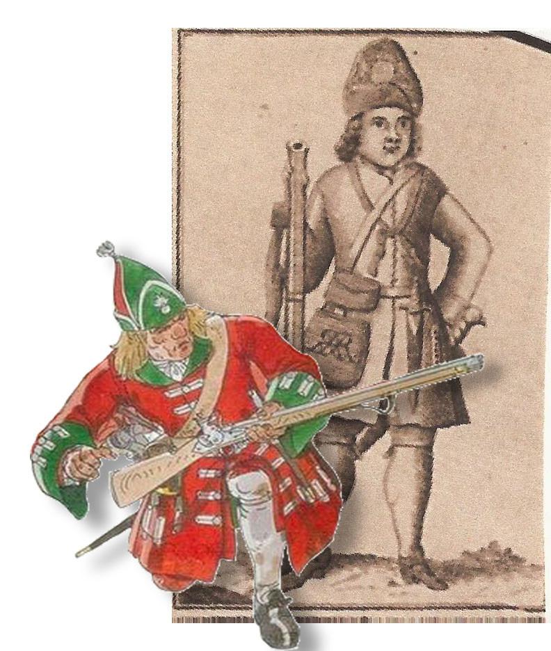 British grenadiers, 1706.