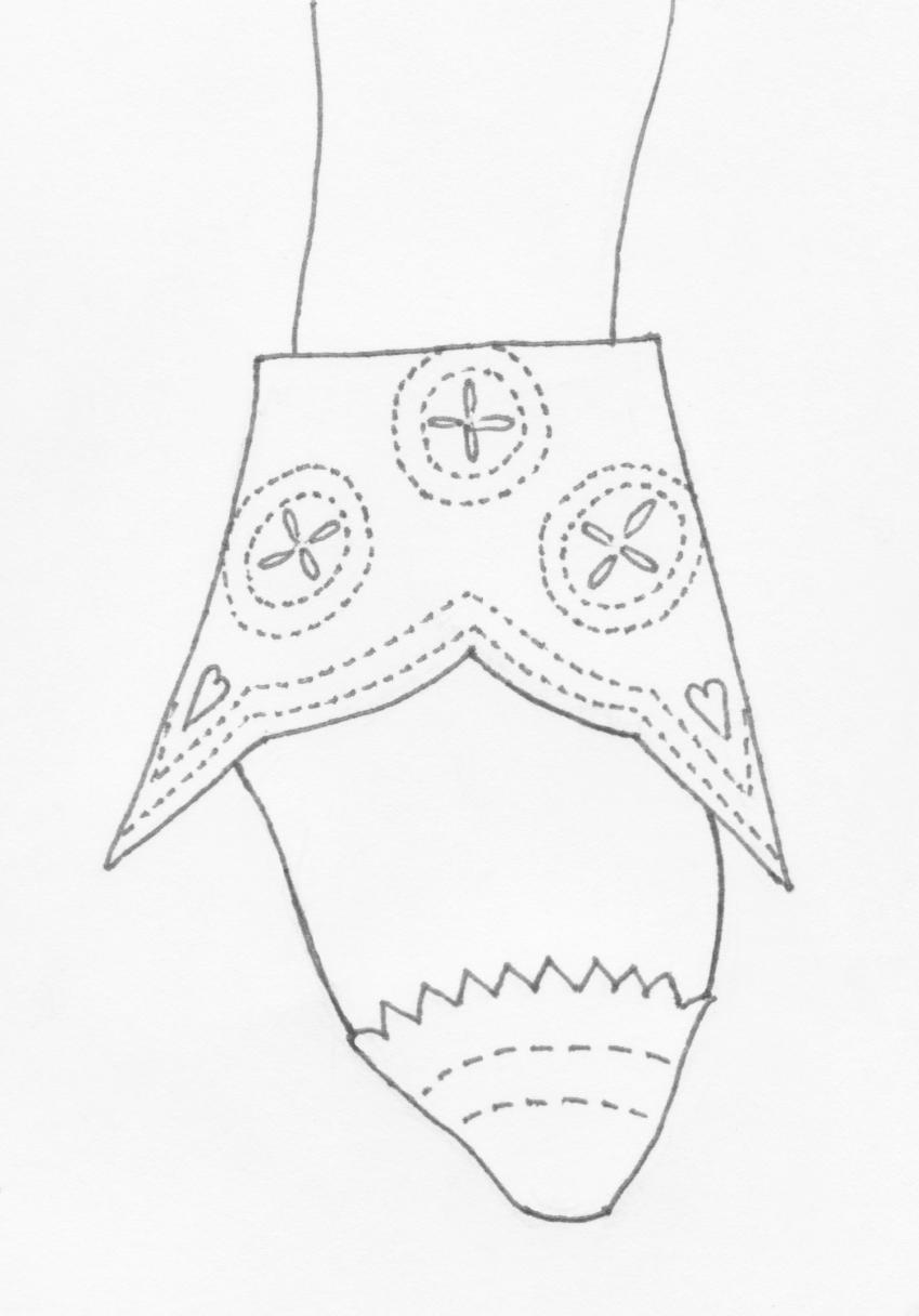 Sobieski-Stuart's sketch of Lord Duffus's brogue.