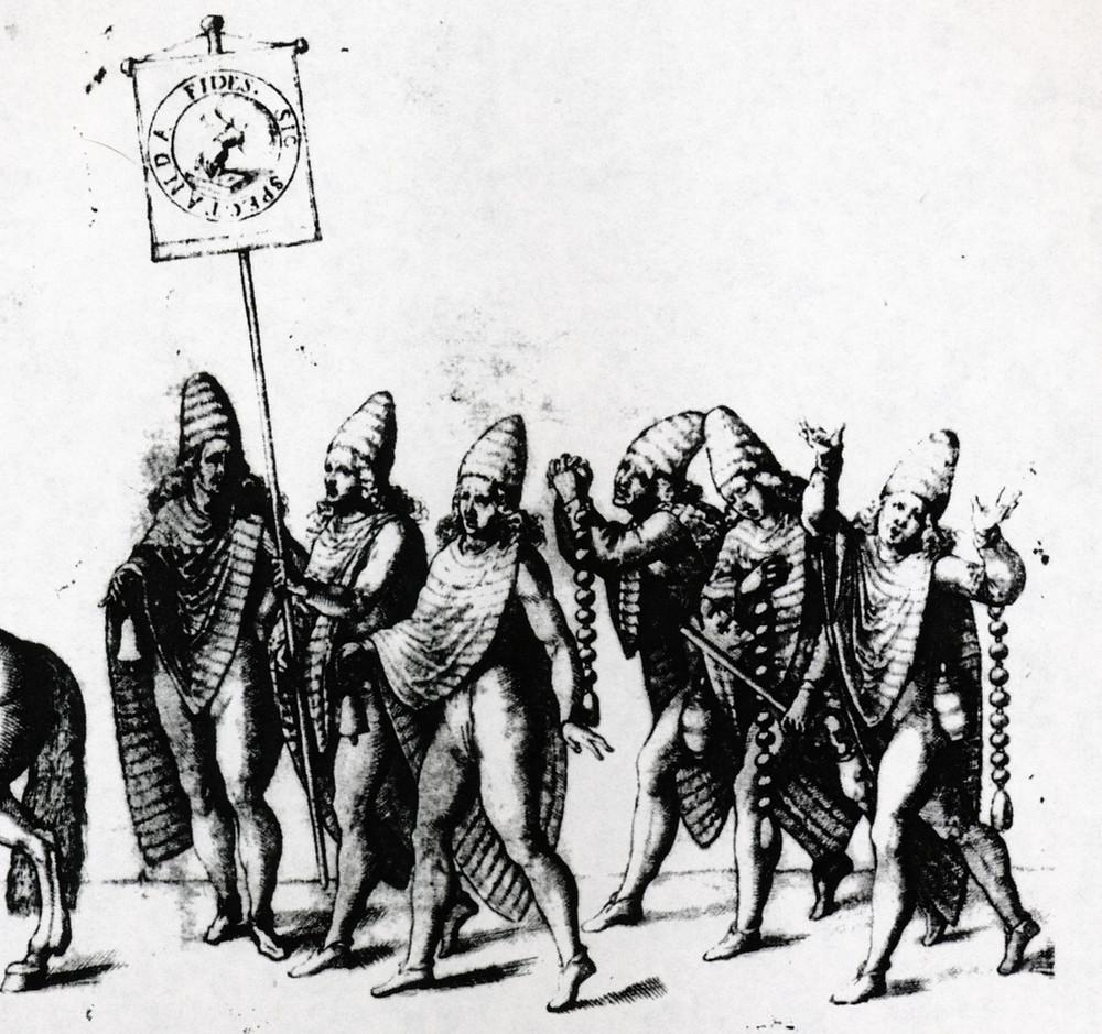 Weckherlin print of procession at Stuttgart, 1617.