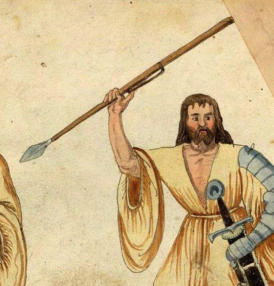 Kern with dart, Codice de Trajes, 1529.