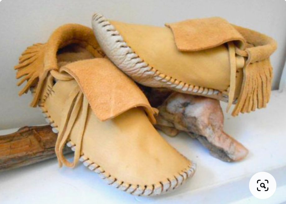 """Folded down like moccasi""""Folded down like . . . American Indian moccasins.""""s."""