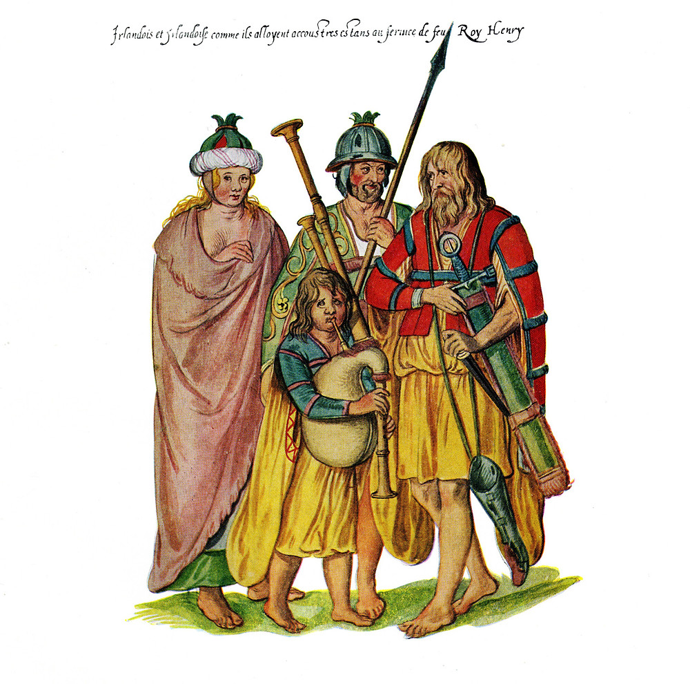 Irish men and women as they went in the service of King Henry VIII, by Lucas deHeere